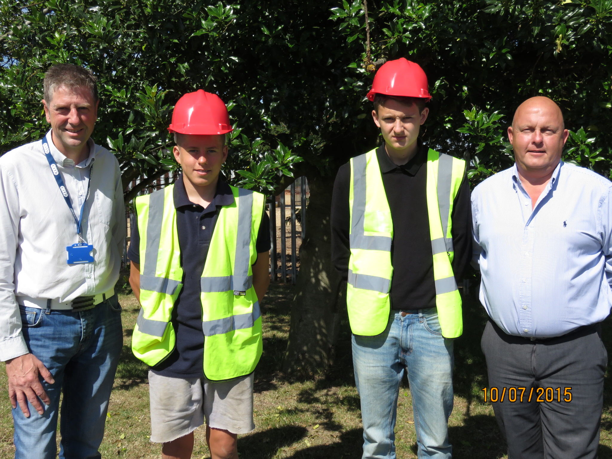 Pictured from left to right: Lee Driver from CITB, Dominic Ford, Jordan Smith and D Brown managing director Des Ford.